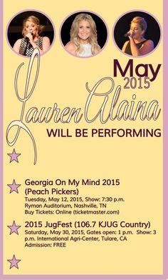 Lauren's May 2015  performances.