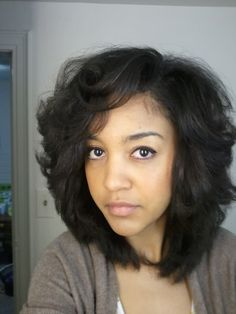 Perfect Layered Cut to Transition Between Natural & Straight Hair!  I'm luvin' these LAYERS!