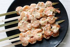 I've had it on my mind to turn my popular Banging Good Shrimp recipe into a summer dish you can make right on the grill. Now that the weather is warmer, we've been grilling almost every night. The excitement of being able to grill again and not dirty my kitchen is always great! These shrimp skewers are the bomb! The spicy, salty, sweet combination of the creamy chili sauce is what makes them so good. I actually double the sauce recipe to see what else I can add it to this week! ...