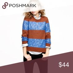 Jcrew brown/blue sequin stripe sweater Jcrew brown/blue sequin stripe sweater, too small never got a chance to wear, perfect condition! J. Crew Sweaters Crew & Scoop Necks