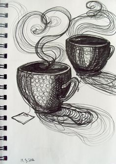 tea drawings. I love quick sketches like this.