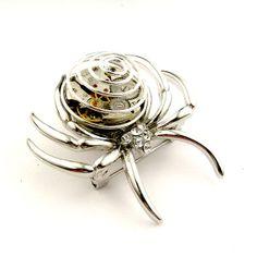 Tarantula Brooch  Steampunk Spider Brooch Pin by SteamSect on Etsy, $40.15