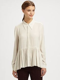 Tibi - Twill Button-Front Top