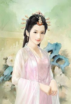 Post Card Art (Chinese Hanful Hairstyle 68)