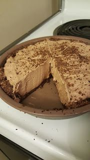 .8 carb per large portion, incredible chocolate pie, real crust! Low carb, keto friendly, modified atkins diet friendly