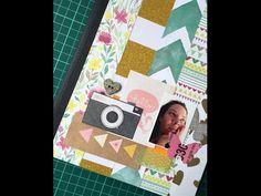 Caderno decorado com scrapbooking - YouTube