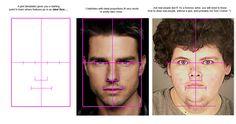 Facial porportion template
