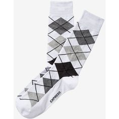 Express Argyle Dress Socks ($6.54) ❤ liked on Polyvore featuring men's fashion, men's clothing, men's socks, white, mens dress socks, express mens socks, mens argyle dress socks, mens socks and mens argyle socks
