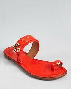 ceccc42fe8d79  Tory Burch Sandals - Elina Flat