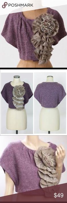 Rare! Moth Anthropologie Adler Shrug Cardi Moth for Anthropologie Adler Shrug Cardigan. Women's size M/L  preowned with no signs of wear. Anthropologie Sweaters Cardigans