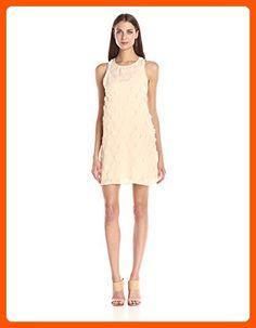 BCBGeneration Women's Sleeveless Floral Dress, Golden Wheat, Medium - All about women (*Amazon Partner-Link)