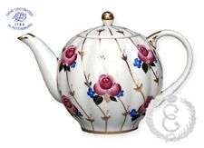 Tea Pot Antique Roses Small