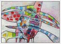 Elke Trittel acrylic oilpastel collage on paper A4