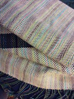 Herringbone scarf, done on my Schacht 4-shaft table loom #weaving #loom