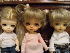 Lati Yellow dolls with 14mm glass eyes