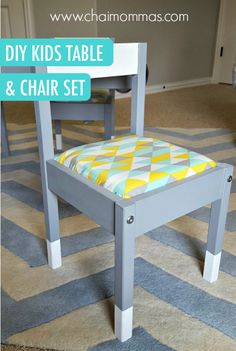 This DIY kids table and chair set may be that extra something special you need to transform your child's playroom into a functional and useful learning space. @chaimommas shows you how to upcycle it into something cute as can be.