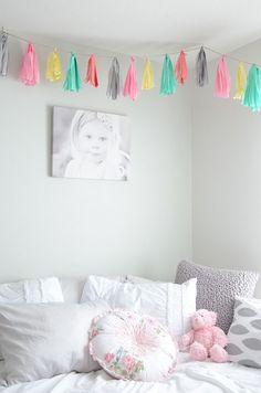 Colourful Little Girls Bedroom