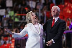 Hillary And Bill Clinton Had A Fucking Ball When The Balloons Dropped At The DNC
