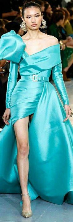 One Shoulder, Shoulder Dress, Shades Of Turquoise, Color, Dresses, Fashion, Shades Of Blue, Vestidos, Moda