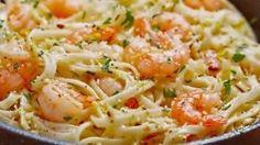 Un délice italien aux crevettes et à l'ail. Vous l'avez devinez, n'est-ce pas ? Découvrez la recette !