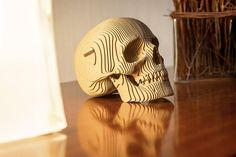 Jack Cardboard Skull 3D Puzzle DIY Kit Paper recycled
