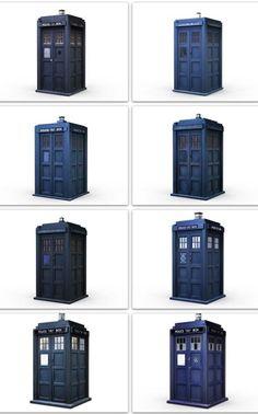 Dr Who iPhone Wallpaper - Tardis exteriors 1963-2013