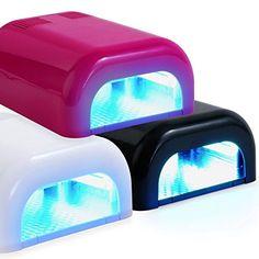 Salon Sundry UV Nail Dryer 36 Watt Professional Salon Gel Nail Polish Curing Lamp with Built In Timer - Pink Coffen Nails, Baby Nails, Gel Nail Set, Manicure Set, Pink Salon, Baby Nail Clippers, Beach Nail Art, Nail Dryer, Nail Supply
