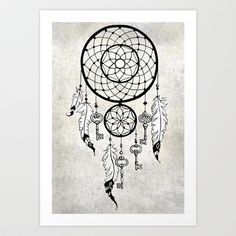 Dreamcatcher Art Print by Nora Bisi - $19.00 Dream Catcher Art, What To Draw, Wood Burning Patterns, Ss16, Little Gifts, Tangled, House Ideas, Party Ideas, Art Prints