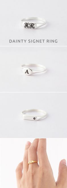 Initial Rings • Custom Signet Ring • Signet Initial Ring • Petite Bar Signet Ring • Flat Signet Ring • initial jewelry • gold initial rings • jewelry with initials • Anniversary ring • costume jewelry • Minimalist jewelry • best christmas gifts for friends • presents for friends • Valentine's Day Gifts • gifts for children • gifts for best friends • birthday presents for her