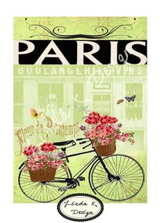 Fleur de Printemps 5 x 7Digital by lindakdesign on Etsy, $5.00