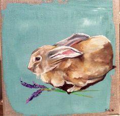 Little Rabbit in Lavender by JJHowardFineArt on Etsy