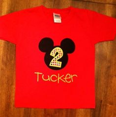 Personalized Mickey Mouse TShirt or Onesie by tresbienboutique, $20.00