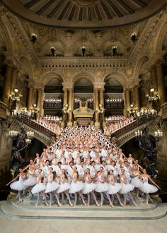 Paris Opera Ballet | See more Amazing Snapz  I don't think people realize how truly LARGE professional companies are, especially ones that put on several shows a year on a large scale.