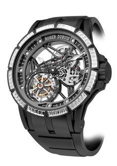 ce33bd48f71 Roger Dubuis Excalibur Spider Skeleton Flying Tourbillon Relógios  Masculinos