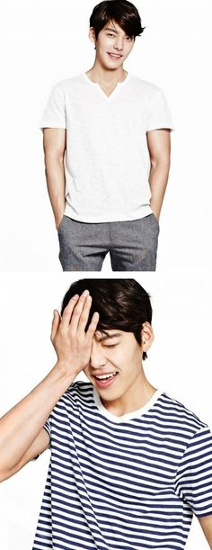 Kim Woo Bin gets ready for spring and shows off his toned arms in photos for 'Giordano' | allkpop.com