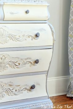 Beautiful two toned chest using AS Old White and Grey from Top This Top That