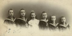 The six eldest children of Grand Duke Grand Duke Konstantin Konstantinovich and Grand Duchess Elizaveta Mavrikievna