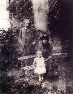 Eugène Manet, Berthe Morisot et leur fille Julie à Bougival Photographie, 1880