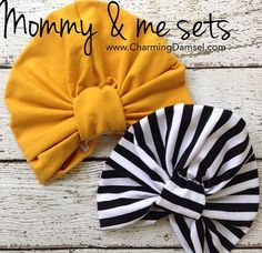 CHARMING DAMSEL || MOMMY & ME TURBAN HAT SET