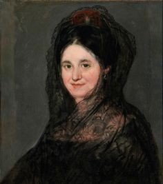 Donna con mantilla negra - 1824 - Dublino, National Gallery of Ireland Francisco Goya, Spanish Painters, Spanish Artists, National Gallery Of Ireland, Spanish Girls, Feminine Mystique, Renaissance Paintings, Edgar Degas, Manet