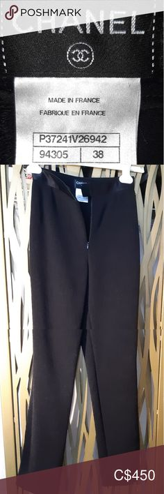 ⏳Limited Time Offer⏳ CHANEL Tuxedo-Style Trousers This pair of trousers goes with the CHANEL jacket I have listed but there is a size difference between them: trousers are size 38 (US 6) and the jacket is a 36 (US 4). Together, they are a stunning, luxurious suit/outfit for under $3000.00 CAD! These are made of the same fine stretch lace material and have the matching satin stripe down the sides. The front closure is a double hook and eye with invisible zipper. The gold button accent is on… Chanel Dress, Chanel Jacket, Uniform Dress, Velvet Skirt, Wool Pants, Stretch Lace, Tuxedo, Plus Fashion, Fashion Trends