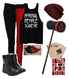 Harley Quinn Inspired Outfit by eating-paintchips on Polyvore featuring King  Fifth Supply Co.