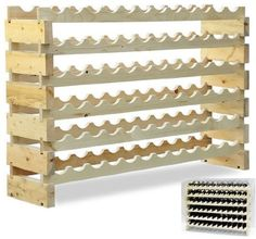HomCom 72 Bottle Solid Wood Wine Storage Display Rack, http://www.amazon.com/dp/B00AFP8V0Q/ref=cm_sw_r_pi_awdm_v3Izvb1P2T9Q9