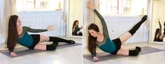Ballet beautiful workout: Outer Thighs: Floor Attitude Lifts