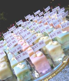 Wedding High: Alice in Wonderland Wedding - Wacky or Wonderful? **9 different cake bites?!**