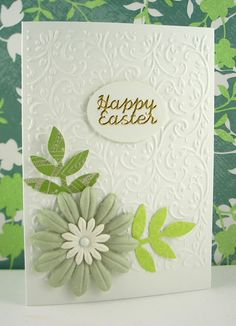 Embossed simple floral card
