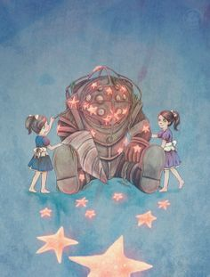#BioshockTwo Big Daddy and Little Sisters♥