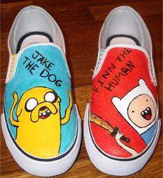 e7c2cde6c4 adventure time shoes Slip-on Painted Canvas Shoes