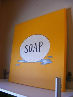 """Soap"" (2011) latex paint, laser printer copy, colored pencil, acrylic."