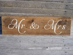 Rustic Barn Wood woodland Wedding  Sign Mr & Mrs by ScootersCrafts, $14.95. Cute if put hooks for both towels or robes